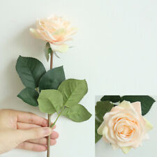 Real Touch Rose Artificial Silk Flowers Peony Wedding Bridal Bouquet Home Decora
