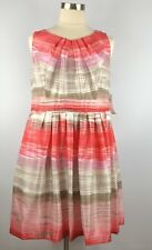 NEW Signature by Robbie Bee Women's Dress 16W Pink Coral Skater Fit Flare Plus