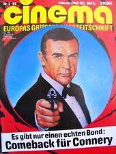 JAMES BOND + 007 + CINEMA + 02/1984 + SEAN CONNERY + SAG NIEMALS NIE +