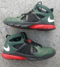 Nike Zoom Huarache TR Mid SZ 14 University Of Miami UM Canes  green 414975-318