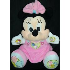 Disney Baby Minnie Mouse Interactive Educational Plush Toy Clementoni pink 13""
