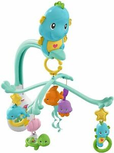 Fisher Price 3-in-1 Soothe & Play Seahorse Mobile CRIB DFP12 BABY TOY NEW