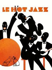 1920s hmv french jazz poster a3a2a1 print