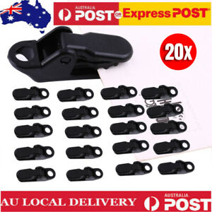 20 Reusable Awning Tarp Tent Clips Clamps Heavy Duty Clamp Camping Survival Tool
