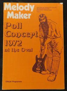 Genesis ELP Argent Focus Wishbone Ash 1972 Melody Maker Concert Program Rare