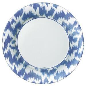 Modern Moiré Paper Dinner Plates in Blue