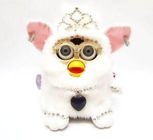 Furby 1998 model 70-800 SNOWBALL bejewelled furby grey eyes BOXED Vtg VERY RARE