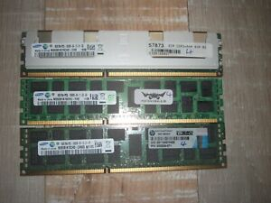 24GB Memory DIMM DDR3 1333Mhz PC3-10600R ECC Registered 3x8GB 240 Pin
