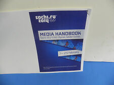 Sochi 2014 Men's Ice Hockey Media Handbook 27-Page Program Booklet