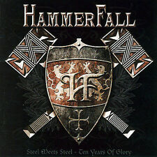 Steel Meets Steel: 10 Years of Glory by HammerFall (CD, Oct-2007, 2 Discs, Nucle