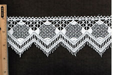 "Victorian Venise lace Trim 3""  Bridal Linen Craft  hat Rayon By yard  # E105"