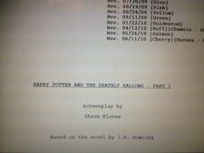 Harry Potter And The Deathly Hallows Part 1 Film Script