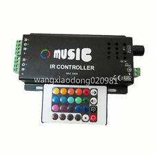 120W Music IR Remote Controller Sound Sensitive for RGB LED Strip Light 12V BK