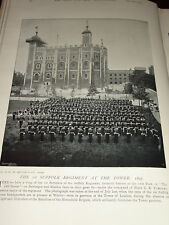 1896 1ST SUFFOLK REGIMENT 12TH FOOT TOWER OF LONDON