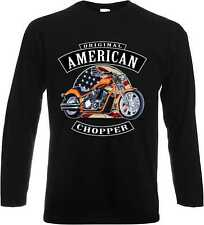 Longsleeve/Langarm Shirt mit Biker-,Chopper-,Oldscoolmotiv Modell Orignal Chop