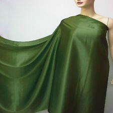 by the metre mid green pure silk satin charmeuse fabric discount crepe back