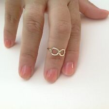 14k Gold Plated Band Ring Trend Infinity High Quality Size 6 7 8