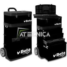 Trolley carrello Beta Tools C41H N cassettiera portautensili a 2 moduli nera