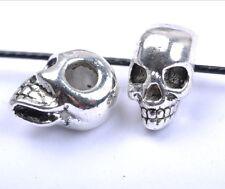 10pcs Tibetan Silver Skull Large Empty Beads 13X10MM SH40