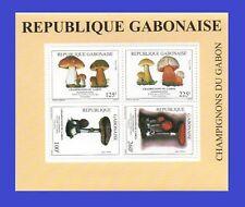 GABON SHEET BLOC 1993 MICHEL Mi BL B 102 MUSHROOMS MUSHROOM CHAMPIGNONS RRR MNH