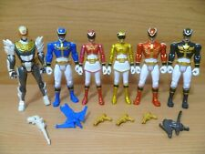 """Power Rangers Megaforce 4"""" Figures Full Set with Robo Knight & Weapons Bundle"""