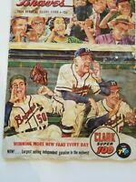 Vintage Sports 1954 MLB Atlanta Braves Baseball Memorabilia Official Score Card