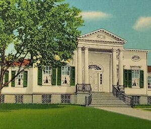 c1930 Taft Museum Cincinnati Ohio Linen Postcard Entrance Art Street View