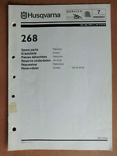 Ersatzteilliste HUSQVARNA Motorsäge Kettensäge 268 parts list chain saw 1999
