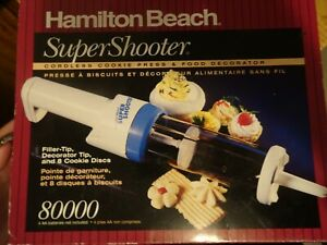 Hamilton Beach Super Shooter Cordless Cookie Press w Decorator Tip 80000