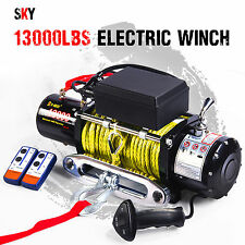12V Wireless Synthetic Yellow Rope 13000LBS/5897KGS Electric Winch 4WD 4x4 Boat
