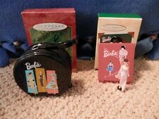 New ListingHallmark Barbie Hatbox Case 2001 & Enchanted Evening Case 2002 Ornaments