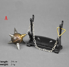 """1/6 Scale Model Ancient Chinese Weapon Accessories Alloy """"Shaolin"""" Meteor Hammer"""