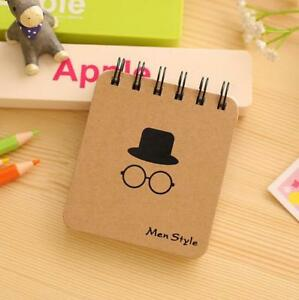 Beard Mini Office Notepad Diary Men Mustache Portable Coil Notebook Stationery