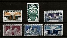FRANCE (521) 1924  YV211-15  SG406-11 ART DESIGNS FULL SET 6  FINE MOUNTED MINT