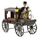 Home Accents Animated 5ft LED  Haunted Hearse with Skeleton 💀  Scary  Creppy