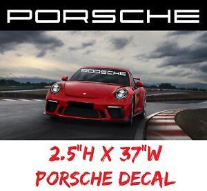 Windshield Racing Edition Decal Sticker sport car performance motorsport Porsche