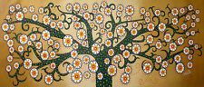 "Aboriginal inspired Tree Of Life painting By Jane Crawford   abstract 28"" x 12"""