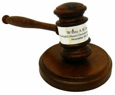 More details for personalised masonic gavel with sound block engraved wooden gift