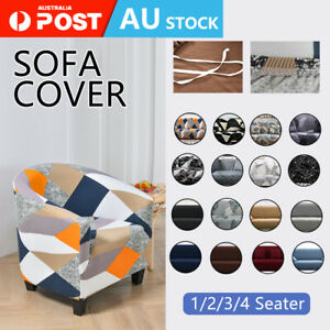 1/2/3/4 Seater Sofa Covers High Stretch Lounge Slipcover Protector Couch Cover