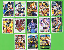 1995 SERIES 2 BRISBANE BRONCOS  RUGBY LEAGUE CARDS