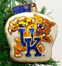 "Kentucky Wildcats Slavic Treasures Blown Glass Ornament 4"""