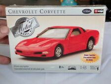 1999 Testors/Burago 1:43 Chevrolet Corvette Metal Model Kit NIB