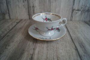 Wawel Fryderyka Blumen Kaffeetasse mit Unterteller Tasse