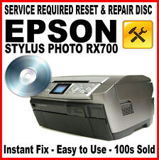 Epson Stylus Photo RX700 RESET DISC: Fault Fix, Flashing Light Solution