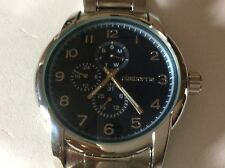 new mens claiborne analog stainless steel Watch with day date and 24 hour time