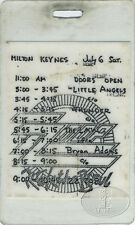Zz Top 1991 Recycler Tour Laminated Backstage Pass Milton Keynes 7/6/91