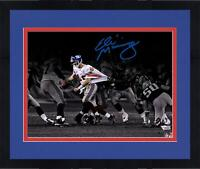 Frmd Eli Manning Giants Signed 11 x 14 Super Bowl XLII Escaping Spotlight Photo