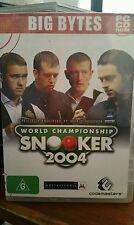 World Championship Snooker 2004 PC GAME - FREE POST