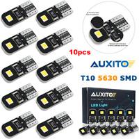 10X Canbus T10 W5W 192 168 194 LED Light Xenon White 6000K 5730-SMD Bulbs Auxito