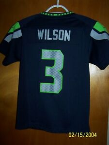 "youth size medium Seahawks Russell Wilson jersey by Nike/""On Field"" jersey"